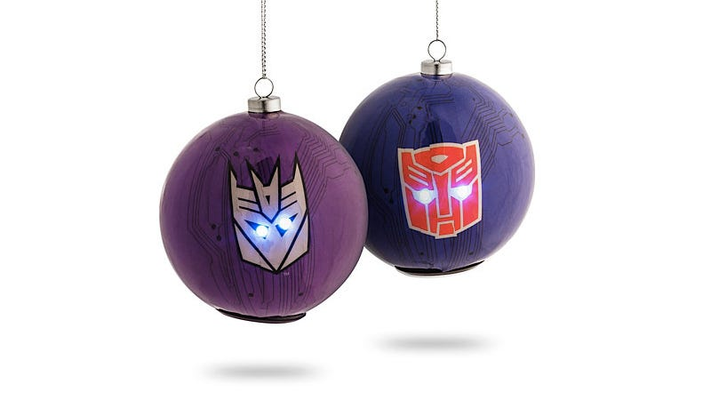 Illustration for article titled Deck the Halls Of Cybertron With Light-up Transformers Ornaments
