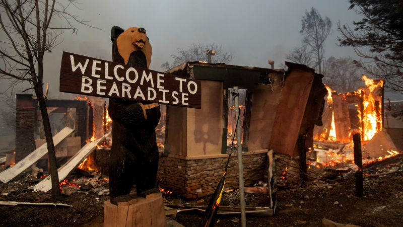Illustration for article titled El incendio en el norte de California ha calcinado una ciudad entera,Paradise