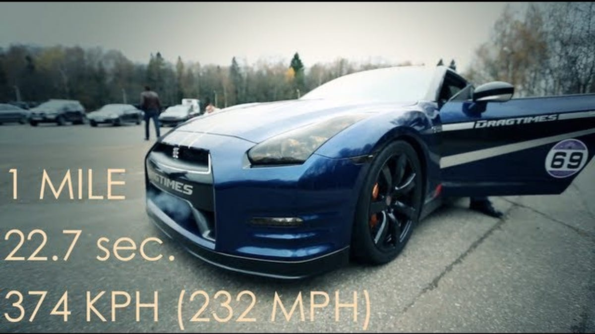Watch A Screaming 1,700 Horsepower Nissan GT R Hit 186 MPH In 12.8 Seconds