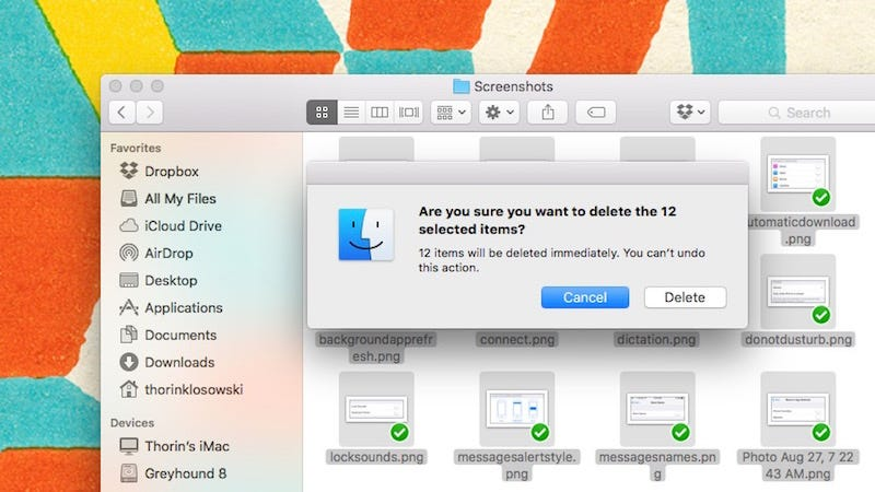 Illustration for article titled Skip the Trash Can and Delete Items Instantly in OS X with a Keyboard Shortcut