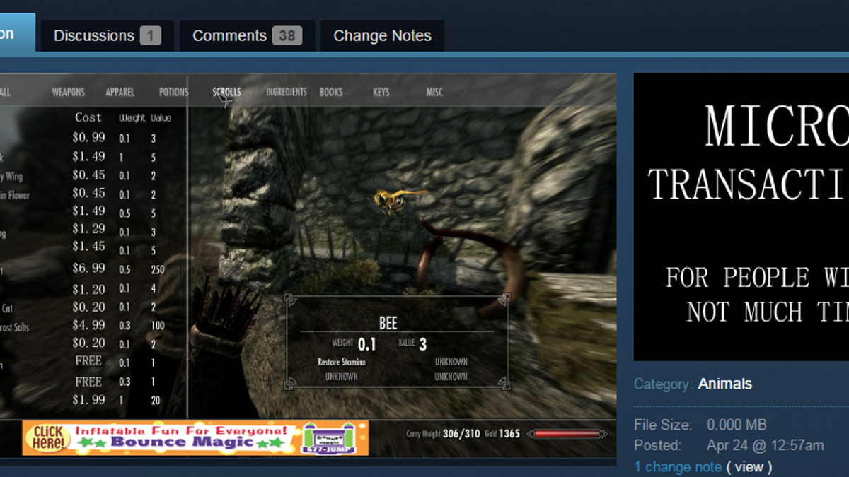 The Most Ridiculous Skyrim Mods People Are Trying To Sell On