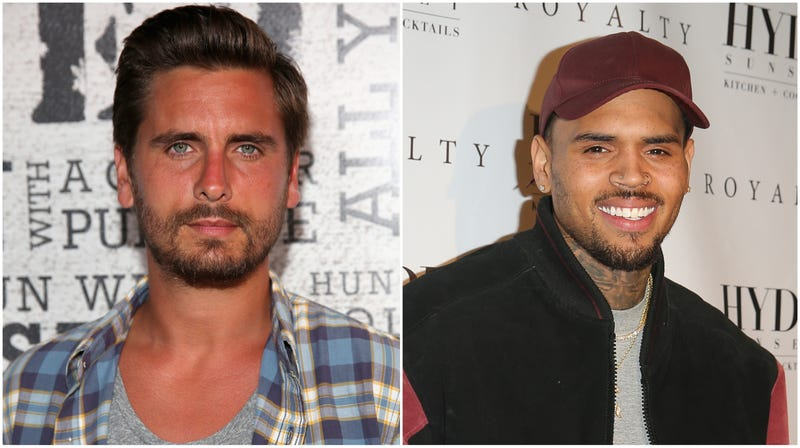 Illustration for article titled Scott Disick and Chris Brown Are Sober Buddies
