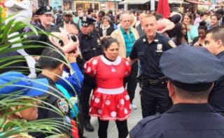 Illustration for article titled Hello Kitty and Minnie Arrested for Assault, Feminism's Work Not Done