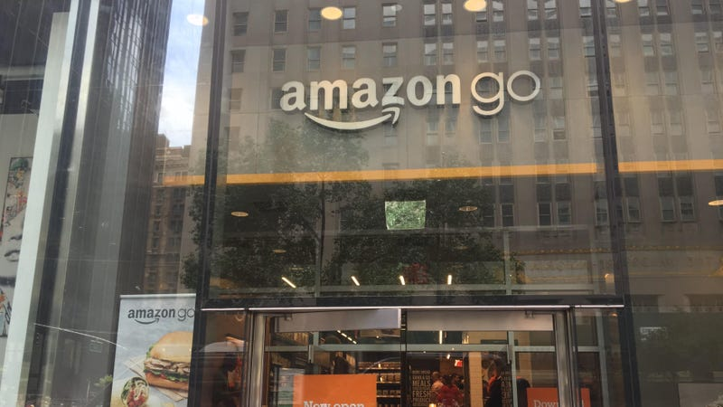Amazon Go's new facade at 300 Park Ave in midtown