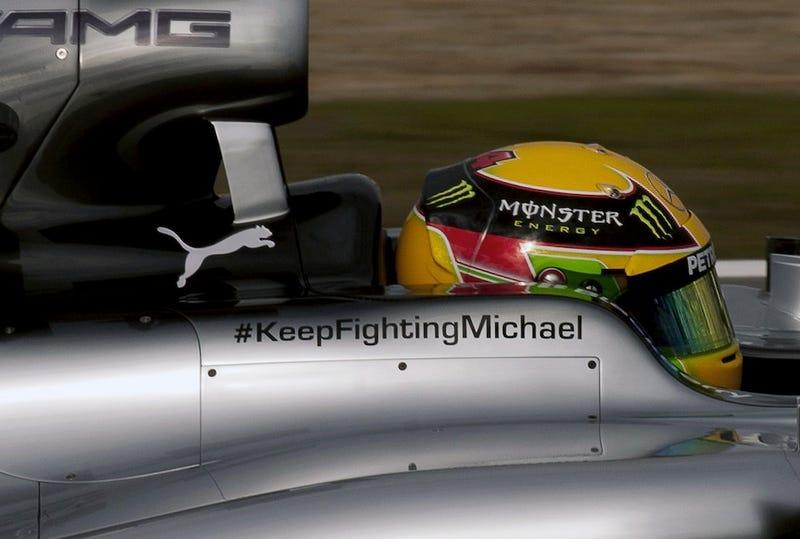 Illustration for article titled Schumacher Update.