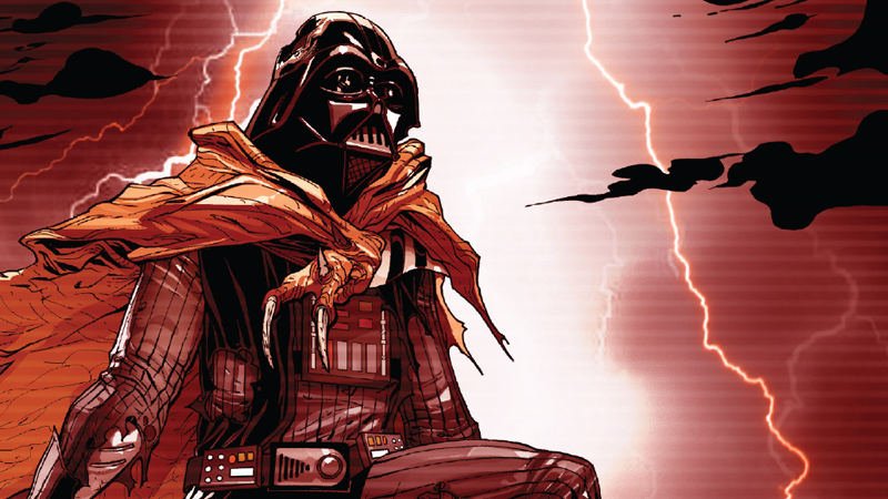 Even on the back foot, Darth Vader is petrifying in this week's Darth Vader #18.
