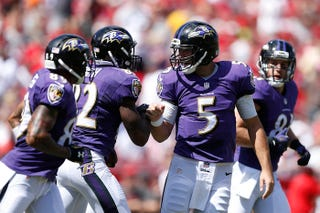 Illustration for article titled Joe Flacco Is Elite (Through One Half Of Today's Game)