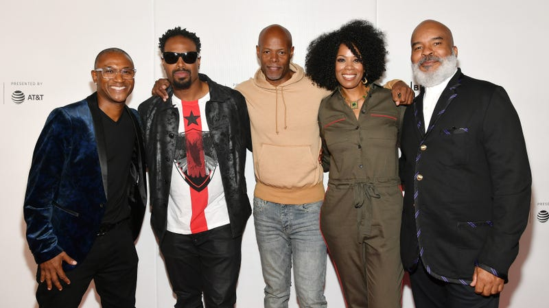 Tommy Davidson, Shawn Wayans, Keenen Ivory Wayans, Kim Wayans and David Alan Grier attend the Tribeca TV: In Living Color 25th Anniversary Reunion during the 2019 Tribeca Film Festival on April 27, 2019 in New York City.