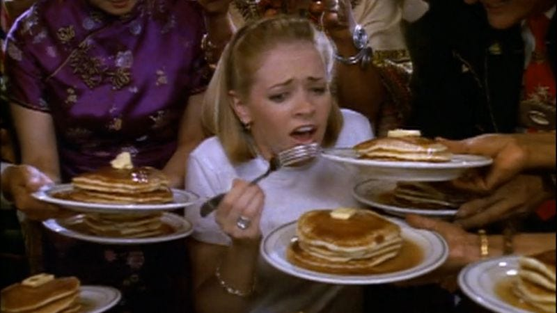 Illustration for article titled A very special Sabrina, The Teenage Witch tackles the serious issue of pancake addiction