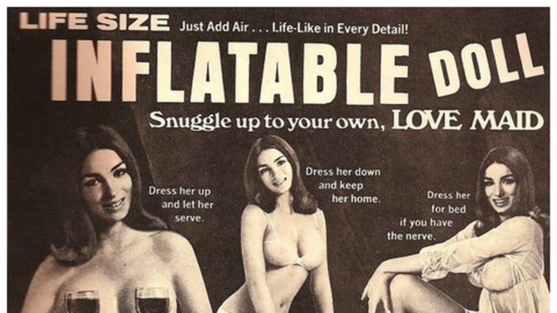 Illustration for article titled These Vintage Sex Doll Ads Are Super Misleading (and Fairly Creepy)
