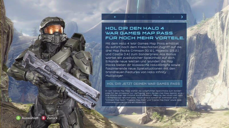 Illustration for article titled This German Screenshot Reportedly Says When Halo 4's Map Packs Are Dropping