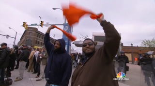 """""""NBC Nightly News"""" reports the outpouring of relief in Baltimore Friday after six police officers were charged in the death of Freddie Gray.NBC News"""