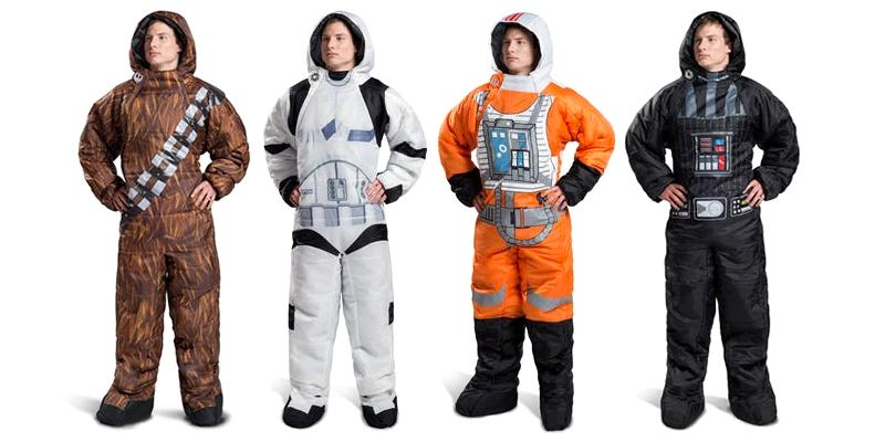 Illustration for article titled Imagine the Epic Dreams You'll Have in These Wearable Star Wars Sleeping Bags