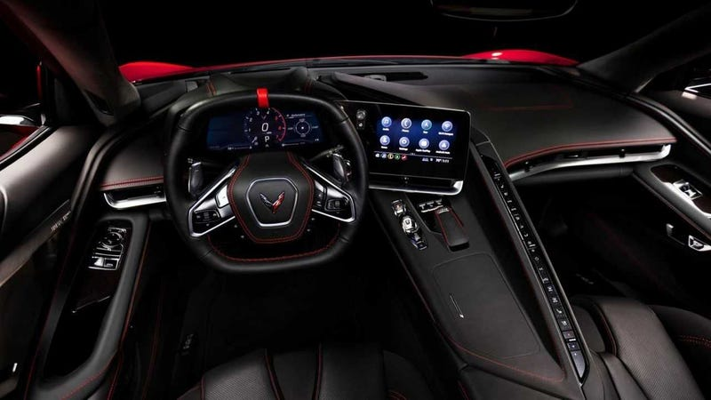 Illustration for article titled The 2020 Corvette Interior: That Is a Lot of Buttons