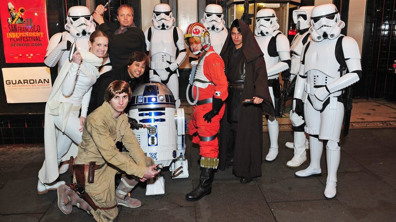 Pictured: Fanboys at a Fanboys screening.