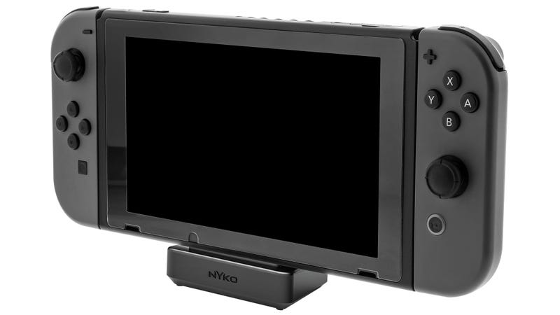 Illustration for article titled This Tiny Dock Finally Makes the Nintendo Switch Truly Portable