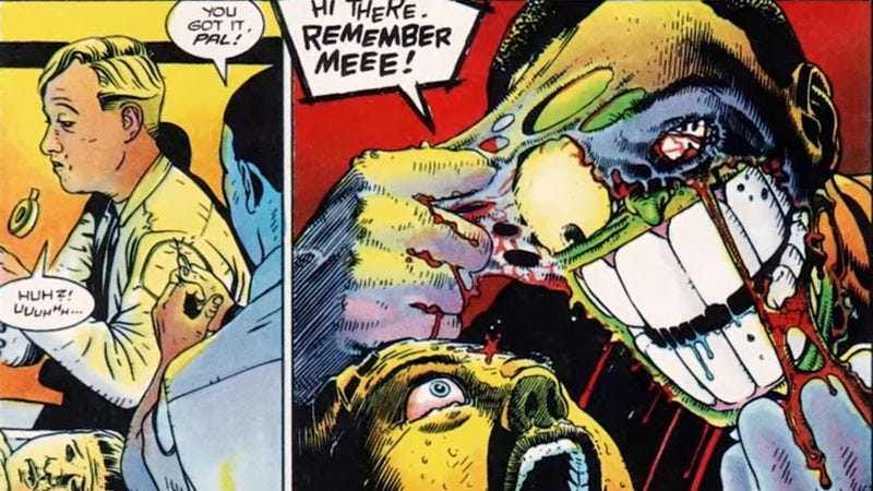 Illustration for article titled Jim Carrey's The Mask has its roots in some incredibly gory comics
