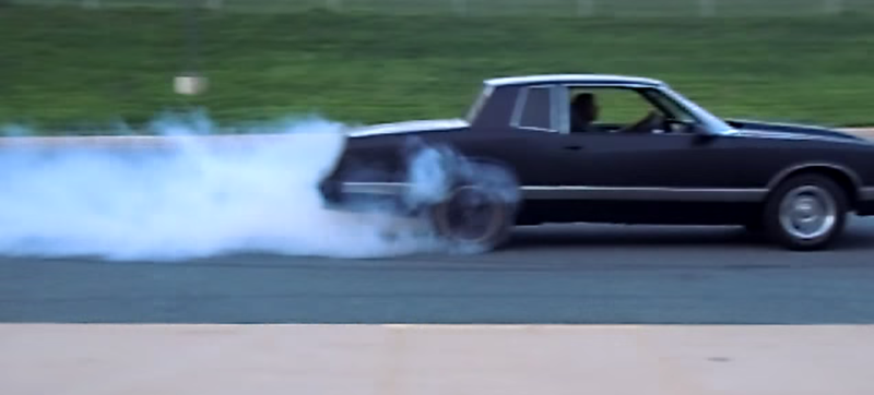 Illustration for article titled This Is How You Incinerate Old Tires In A 500 Horsepower Monte Carlo