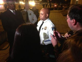 Baltimore Police Commissioner Anthony Batts speaks to reporters.Baltimore Police via Twitter