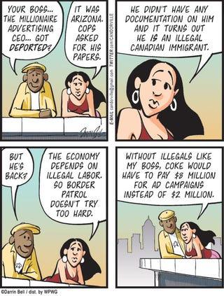Illustration for article titled Candorville Comic: Deportation