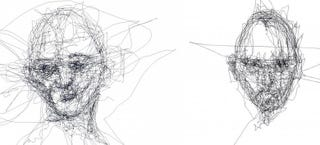 Illustration for article titled These Portraits Are Drawn Only With Eye-Tracking Software