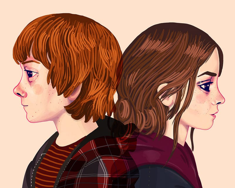 Illustration for article titled Ron Weasley Doesn't Think He'd Still Be With Hermione