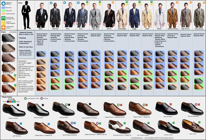 Men Shoe Colors Pants 43