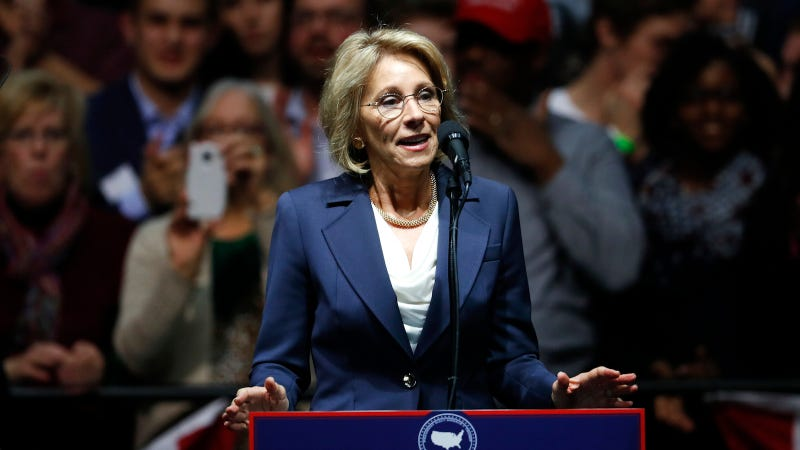 Senate Democrats to hold floor over DeVos nomination vote
