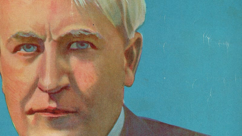 Thomas Edison as he appeared on the December 1919 cover of Electrical Experimenter magazine