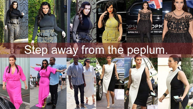964d445a480c1 Illustration for article titled Kim Kardashian Has No Idea What to Wear in  That Awkward Stage