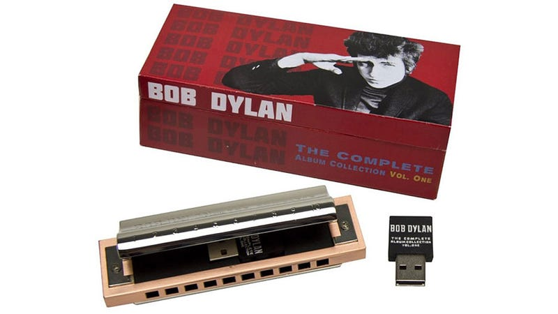 Illustration for article titled This Harmonica-Housed USB Drive Contains All of Bob Dylan's Albums