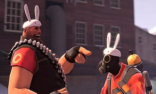 Illustration for article titled Team Fortress 2 Finally Adds Severed Rabbit Heads