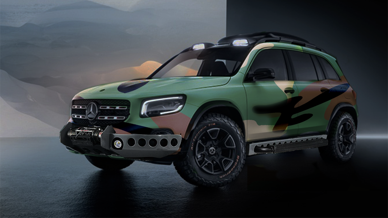 Illustration for article titled The Mercedes GLB Concept but make it Jurassic Park