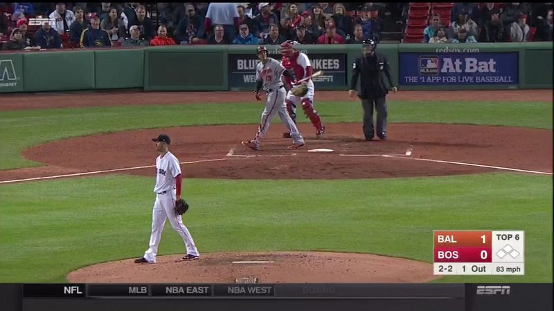 Illustration for article titled Manny Machado Bashes Huge Homer Over The Green Monster, Takes His Time Admiring It