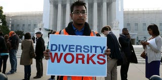 Affirmative action supporter at the Supreme Court (Mark Wilson/Getty Images)