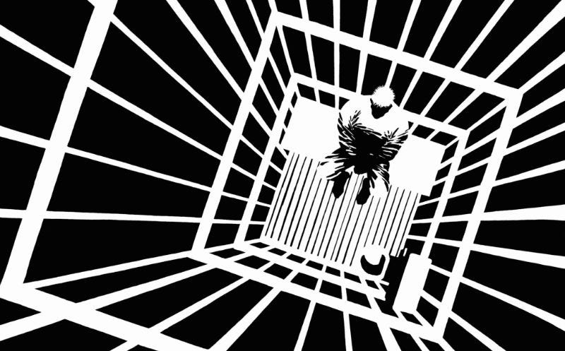 An image from Frank Miller's Sin City. Image: Dark Horse