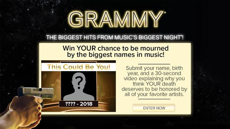 Grammys promotion.