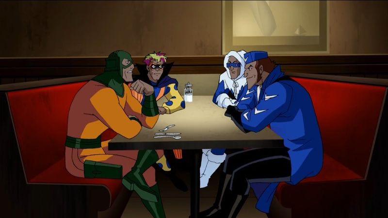 """Illustration for article titled Justice League Unlimited: """"Flash And Substance"""""""