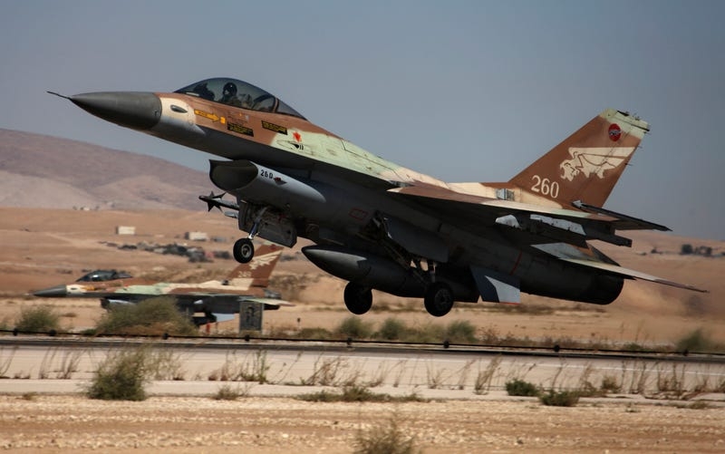 Israeli Air Force F-16A fighter.