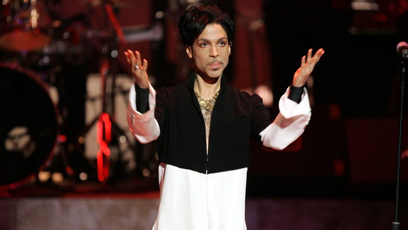 Prince onstage at the 36th NAACP Image Awards at the Dorothy Chandler Pavilion on March 19, 2005, in Los Angeles. Prince was honored with the Vanguard Award.