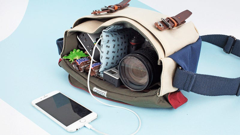 A Camera Bag Divider That Protects and Charges your Gear