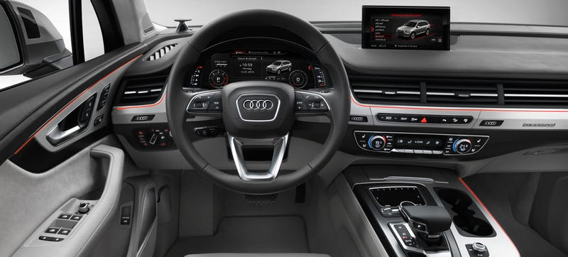 the 2016 audi q7 will get a giant dash tablet and virtual cockpit. Black Bedroom Furniture Sets. Home Design Ideas