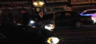 Sandra Amezquita being tossed by NYPD police officerEl Grito De Sunset Park via Facebook