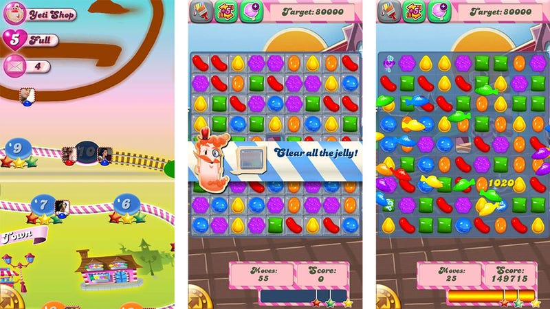 Illustration for article titled Candy Crush Saga Triumphantly Travels to iOS