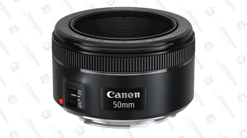 Canon EF 50mm f/1.8 STM Lens | $74 | Woot