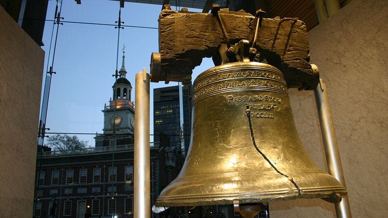 Illustration for article titled 7 Pictures Of The Liberty Bell That Will Hopefully Help You Feel Inspired About America In Some Broad Sense