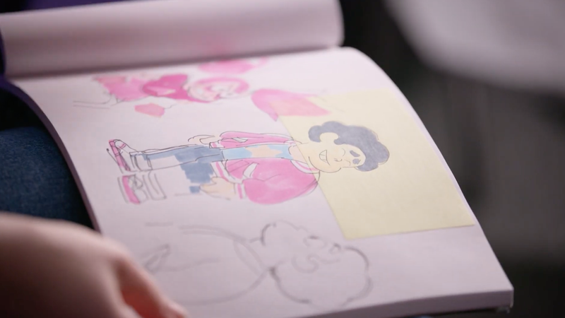 Sketches of Steven Universe's new look.