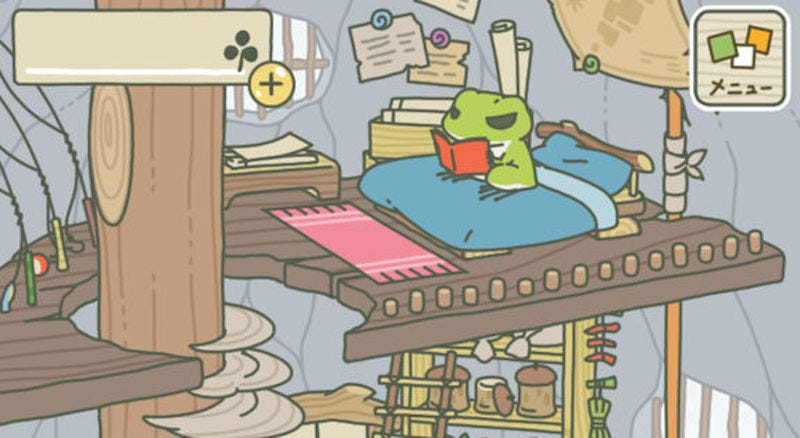 Illustration for article titled Neko Atsume Developer's New Game Is About A Traveling Frog