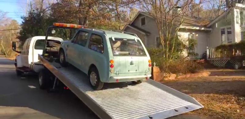 Illustration for article titled Our Jason Torchinsky Is Taking Delivery Of An Imported Nissan Pao Right Now