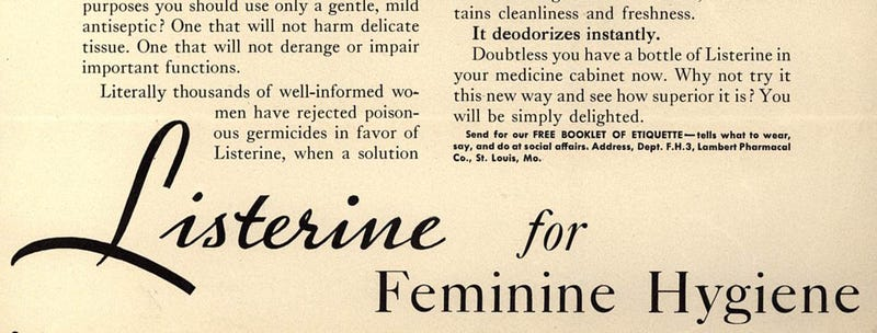 Illustration for article titled That Time Listerine Claimed It Was Good For Cleaning the Vagina